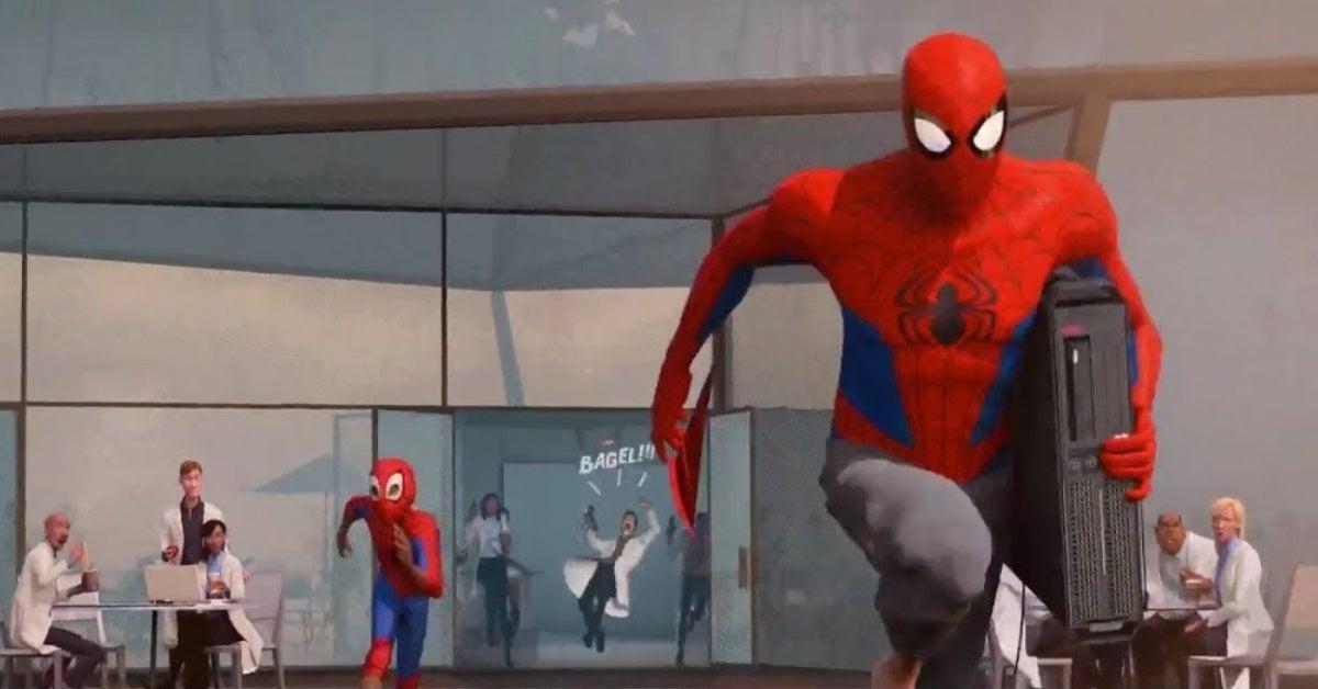 spider man into the spider verse bagel