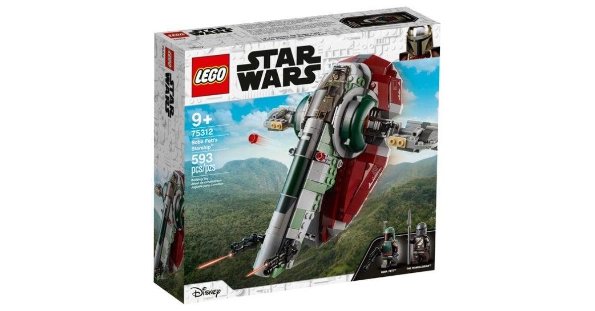 star wars lego boba fett's starship