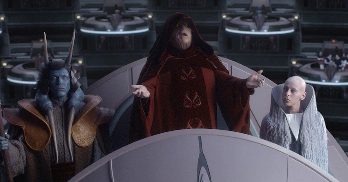 star wars revenge of the sith galactic senate palpatine