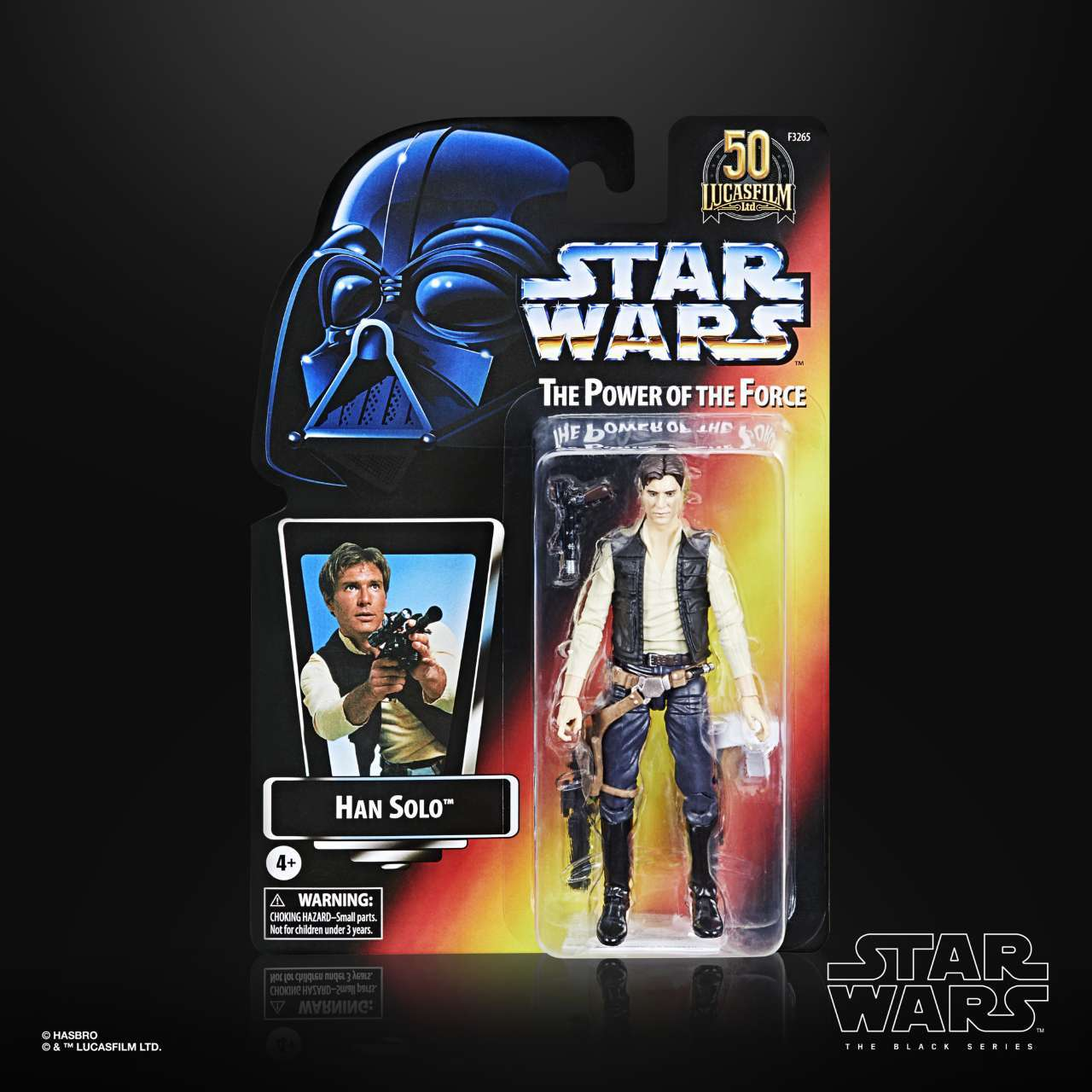 STAR WARS THE BLACK SERIES LUCASFILM 50TH ANNIVERSARY 6-INCH HAN SOLO Figure - in pck