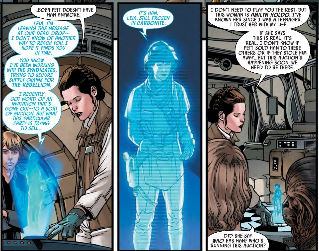 star wars war of the bounty hunters amilyn holdo comic