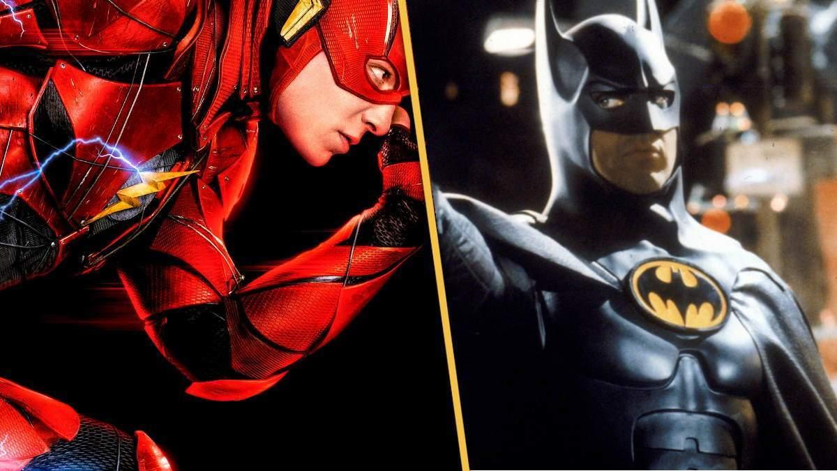 The Flash Movie Set Photos Ezra Miller Michael Keaton