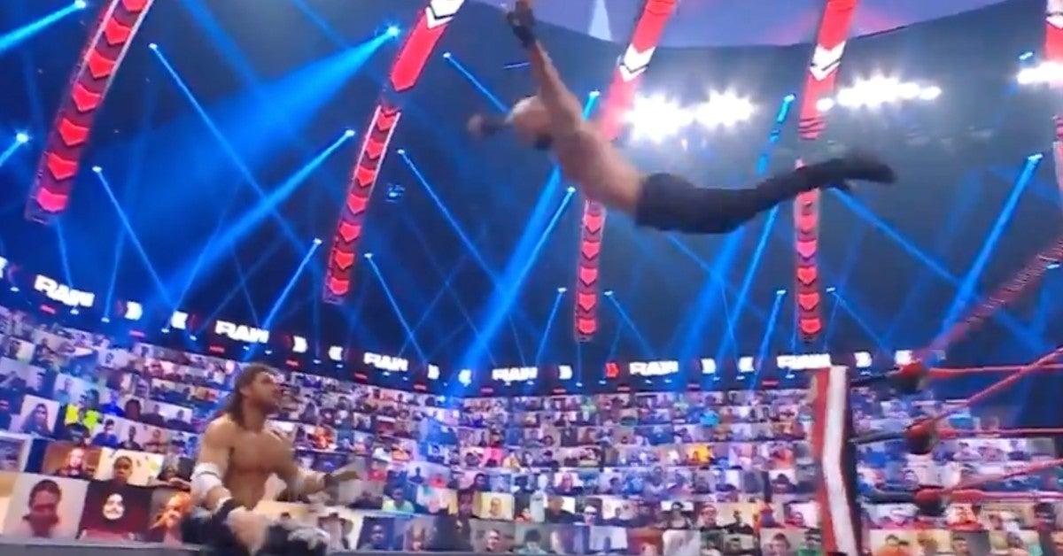 WWE-Ricochet-WWE-Raw-Dive