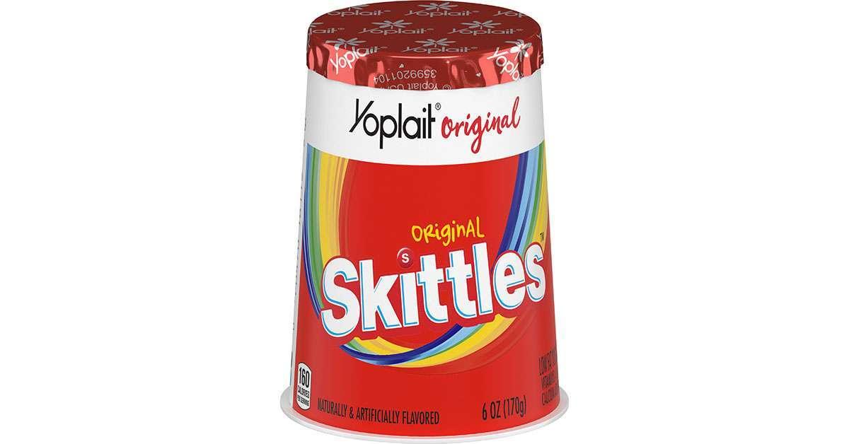 yoplait skittles yogurt