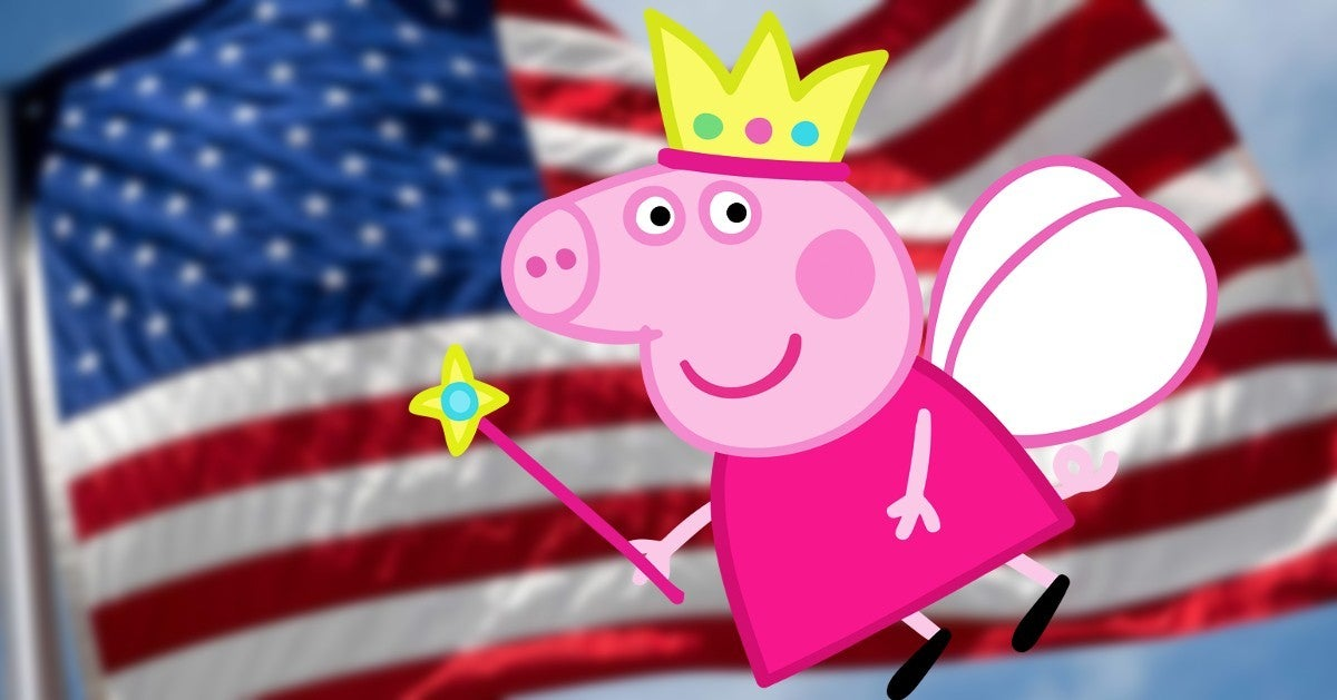 American Kids British Accents Watching Peppa Pig COVID 19 Pandemic