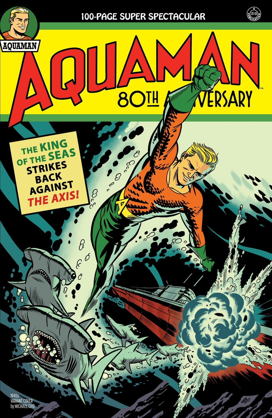 aquaman 80th anniversary cover 1940s