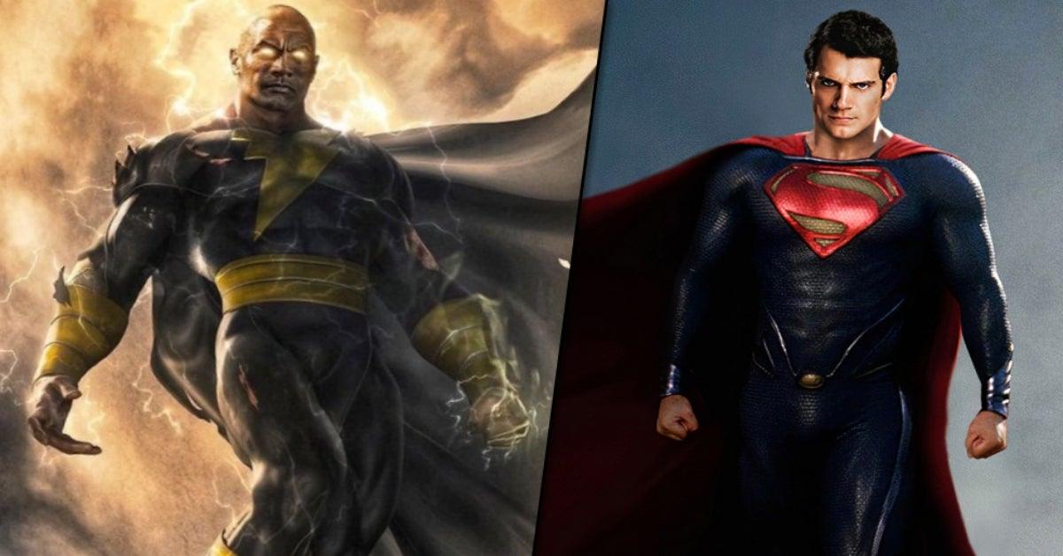 Black Adam Dwayne Johnson Henry Cavill Superman COMICBOOKCOM