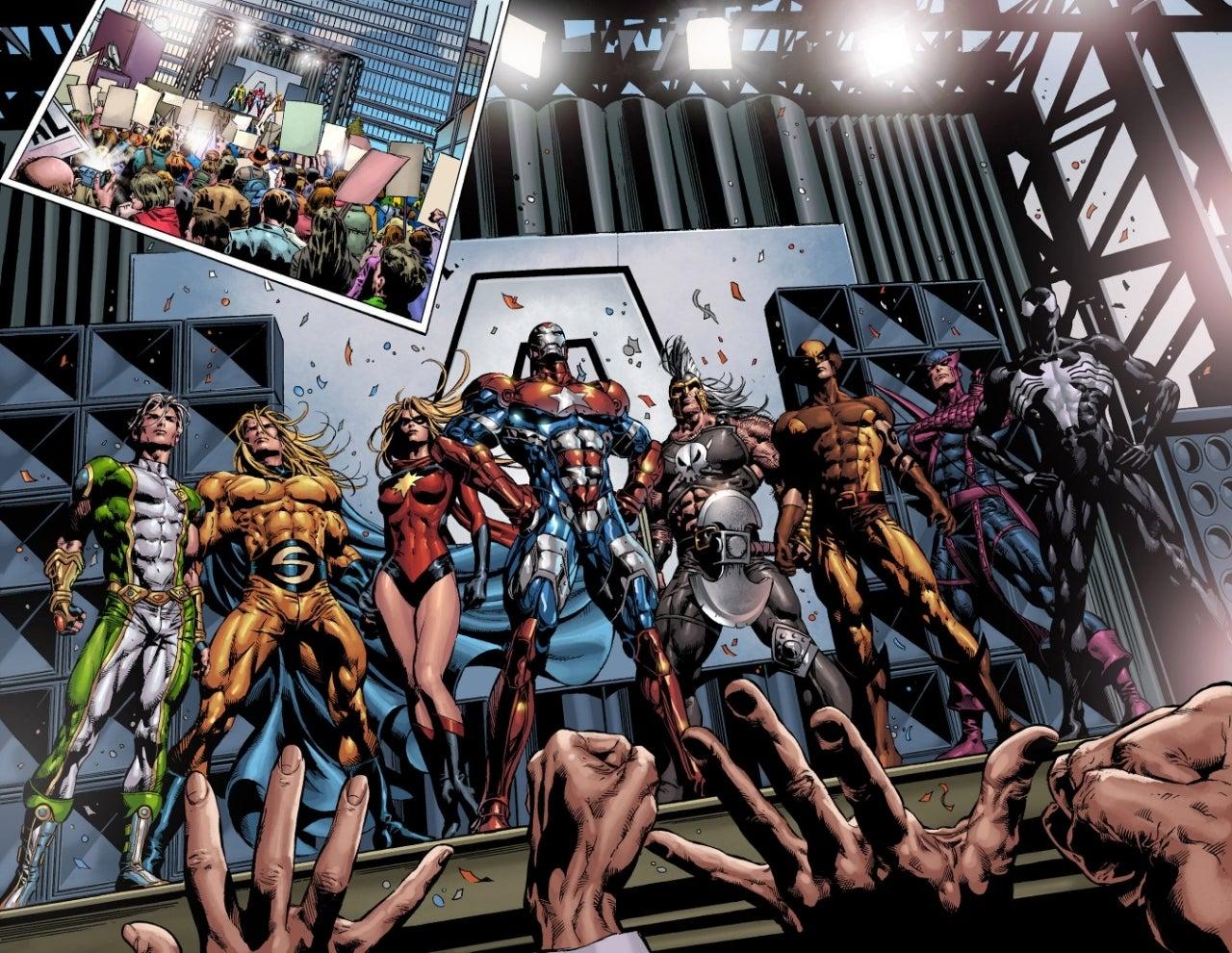 dark avengers team shot