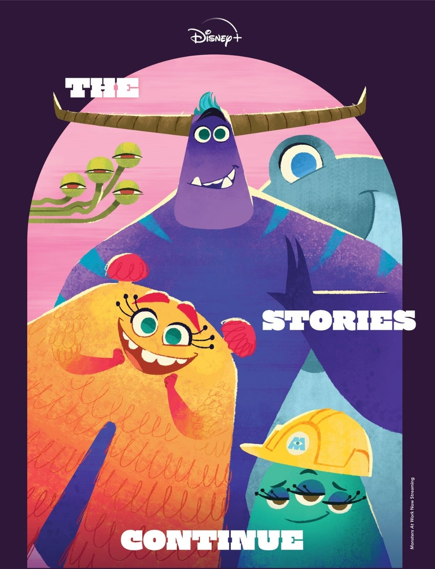 disney plus stories continue magazine monsters at work