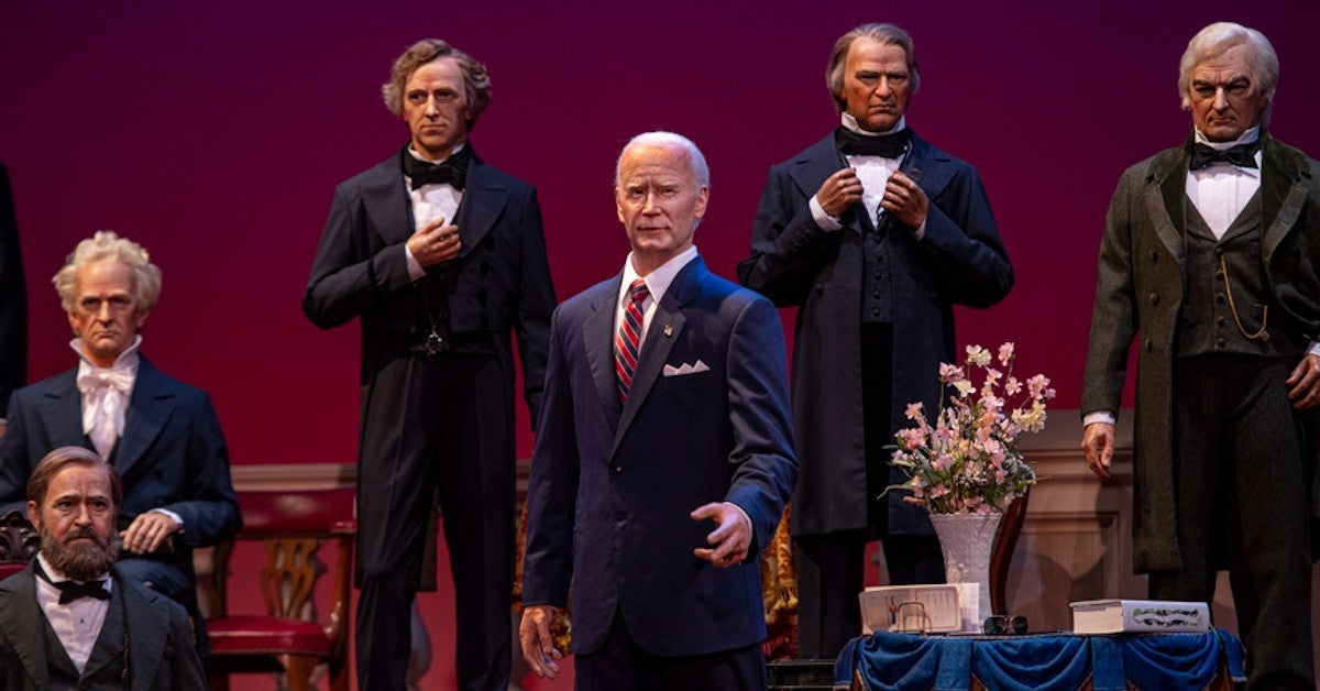 Disney Reveals First Look Joe Biden Hall of Presidents