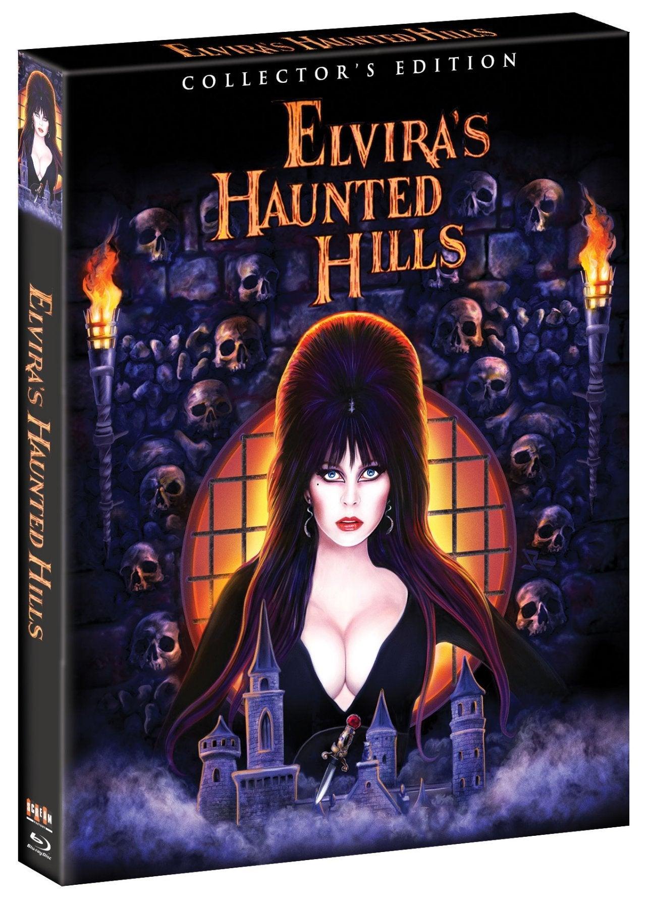 elvira's haunted hills blu ray cover scream factory