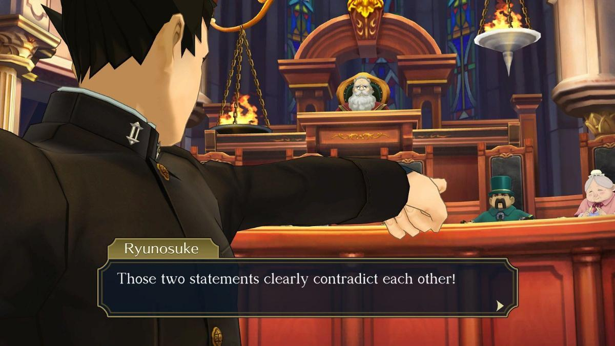 Great Ace Attorney court
