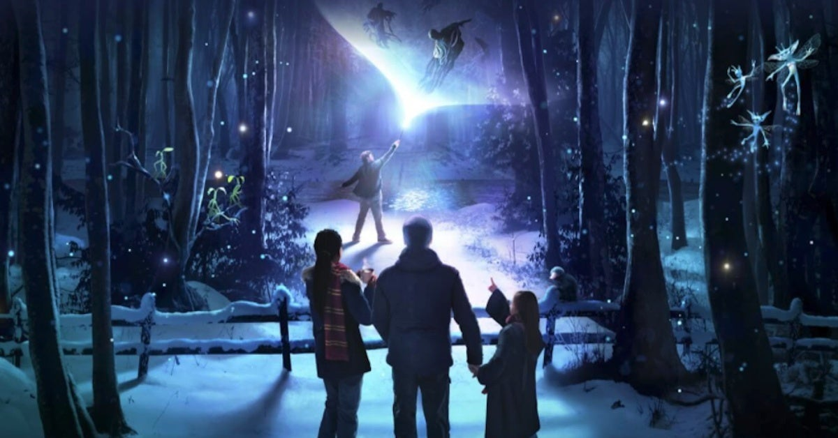 Harry Potter A Forbidden Forest Experience Light Trail Opening in UK