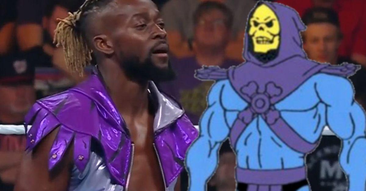 Kofi Kingston Money in the Bank Skeletor Gear