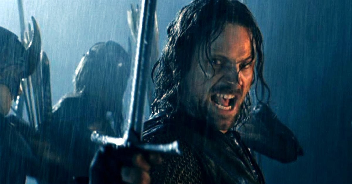 lord of the rings two towers aragorn helm's deep viggo mortensen