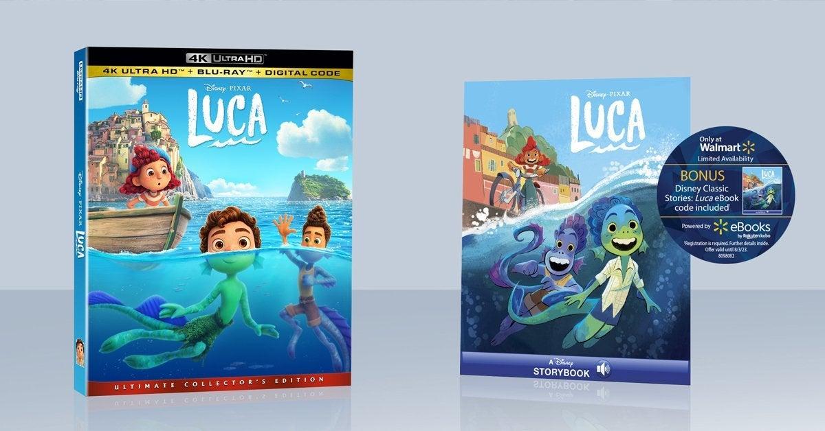 luca blu ray disney pixar walmart exclusive header