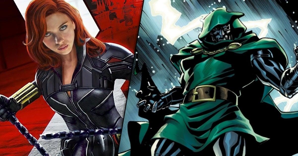 Marvel Black Widow Doctor Doom easter egg