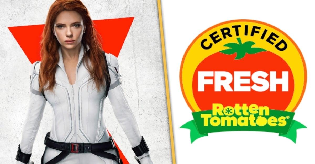 Marvel Black Widow Rotten Tomatoes score Certified Fresh