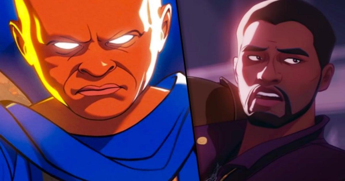 Marvel What If T'Challa Star-Lord Chadwick Boseman Uatu the Watcher Jeffrey Wright