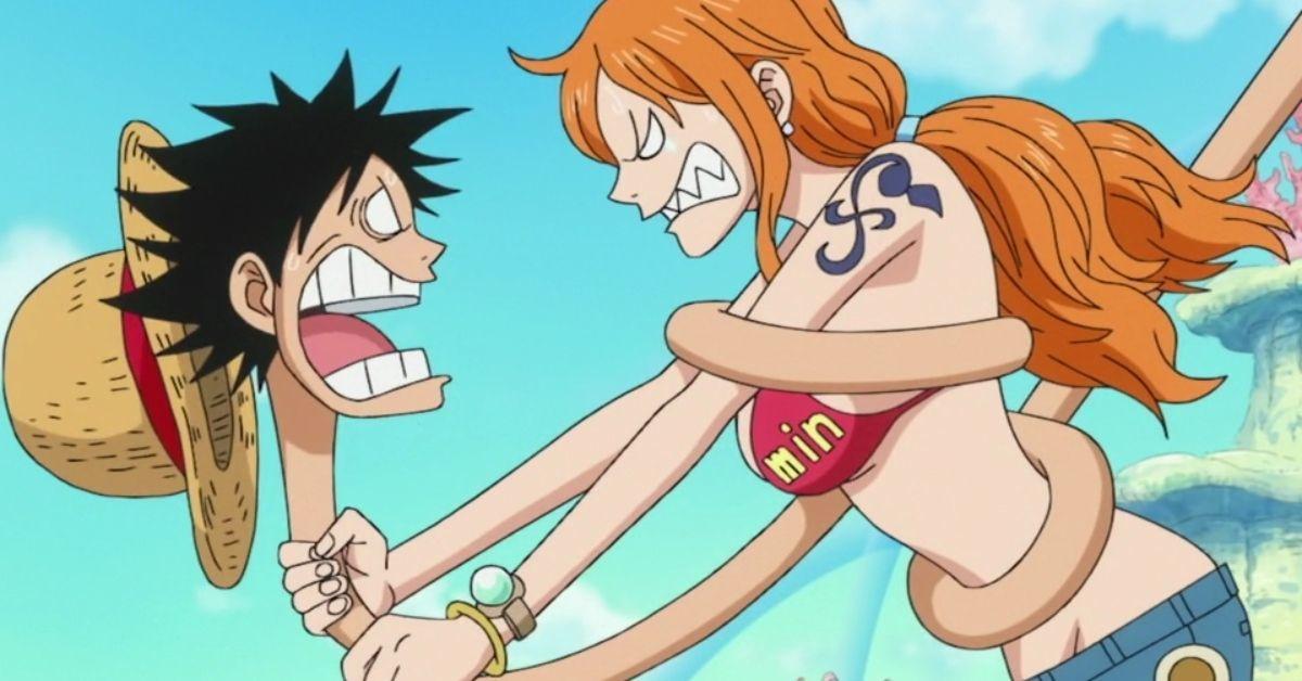 One Piece Nami Luffy Anime Manga