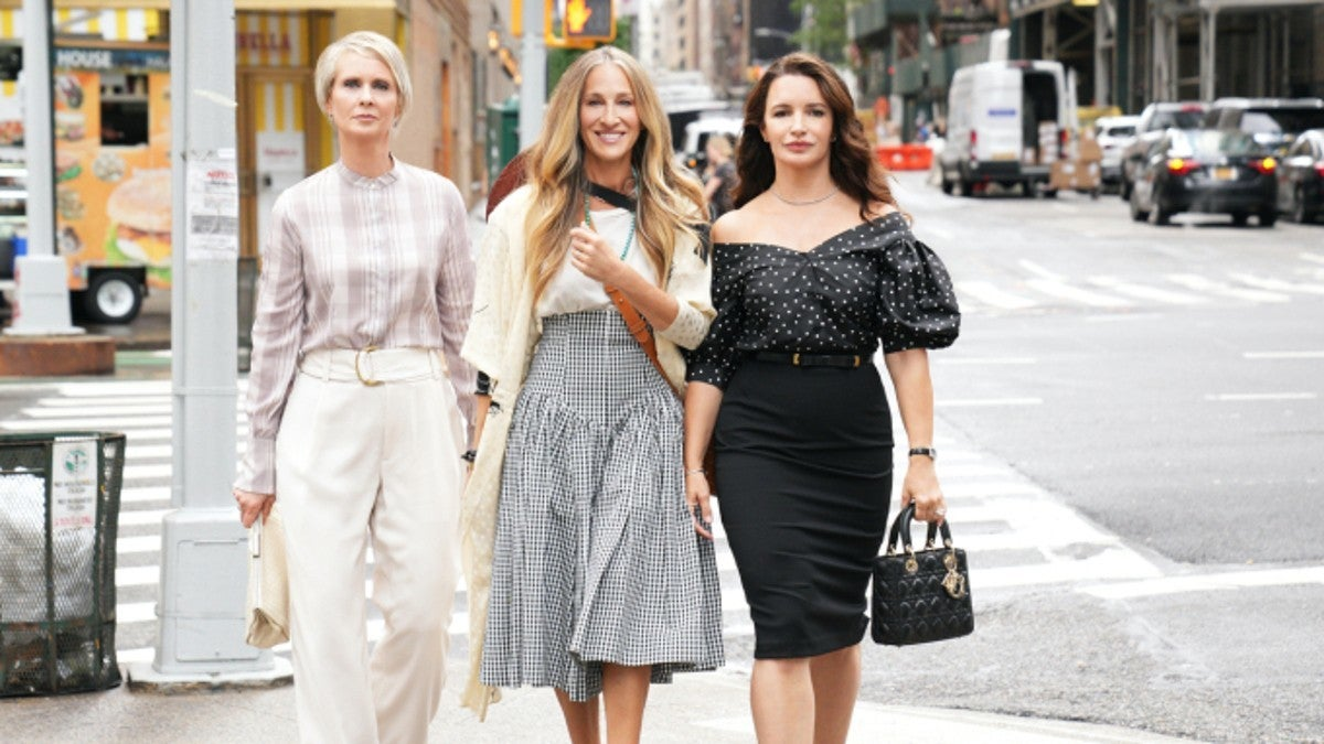 Sex and the City Sequel Series FIrst Look Photo Carrie Miranda Charlotte HBO Max