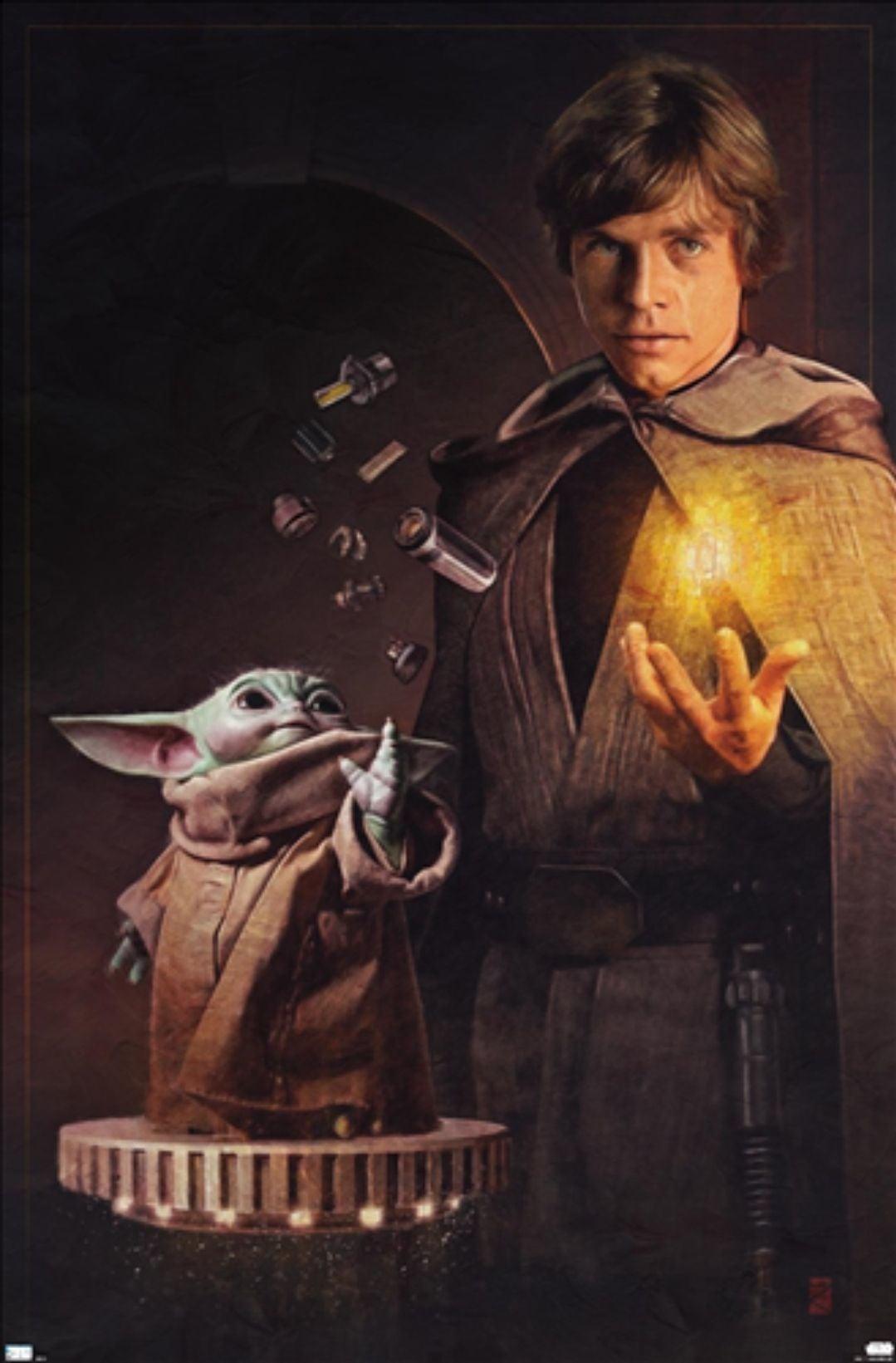 Star Wars Luke and Grogu Poster Comic-Con