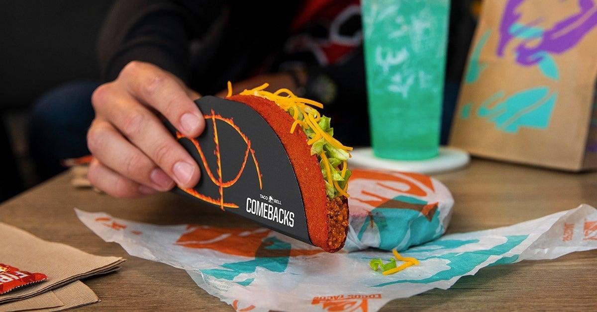 taco bell flamin hot taco