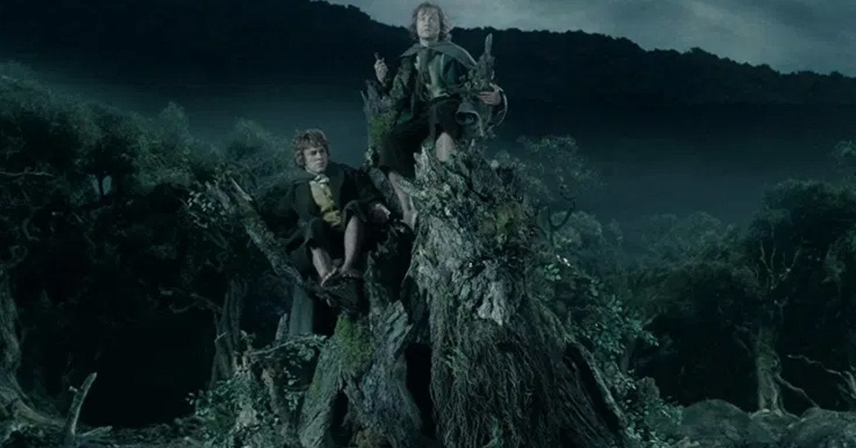 the lord of the rings merry pippin treebeard