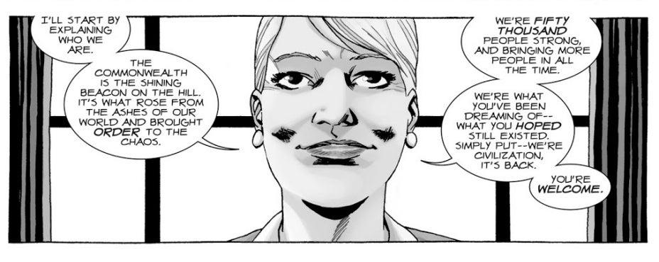 The Walking Dead comics Governor Pamela Milton