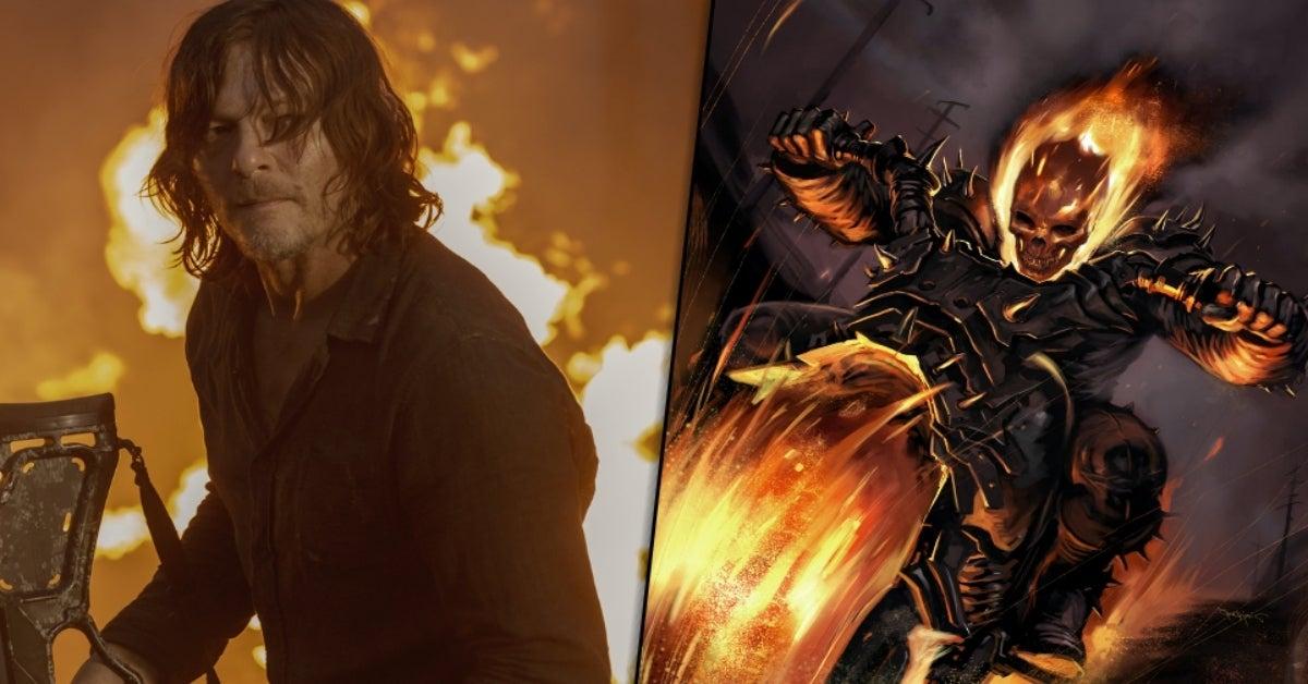The Walking Dead Norman Reedus Marvel Ghost Rider comicbookcom