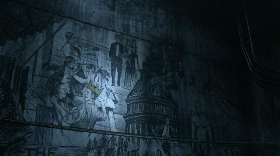 The Walking Dead subway graffiti