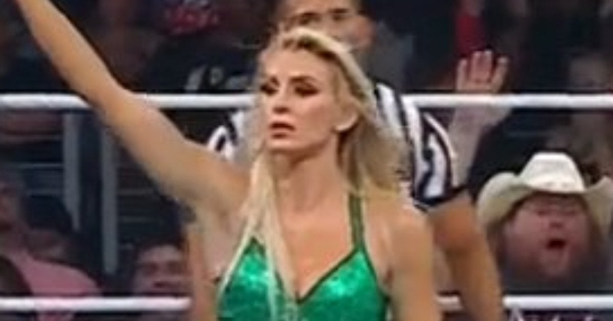 WWE Money in the Bank Charlotte Flair Flips Off Crowd