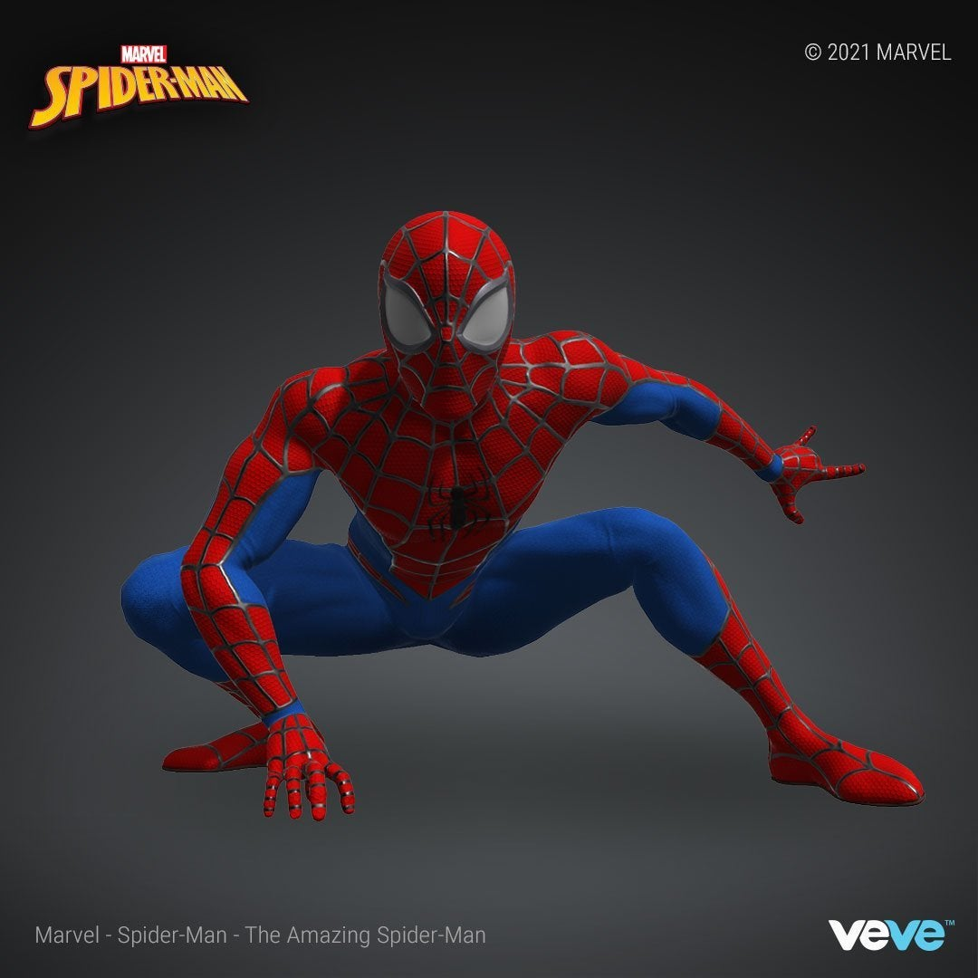 Marvel Official Spider Man NFT Crouch-pose