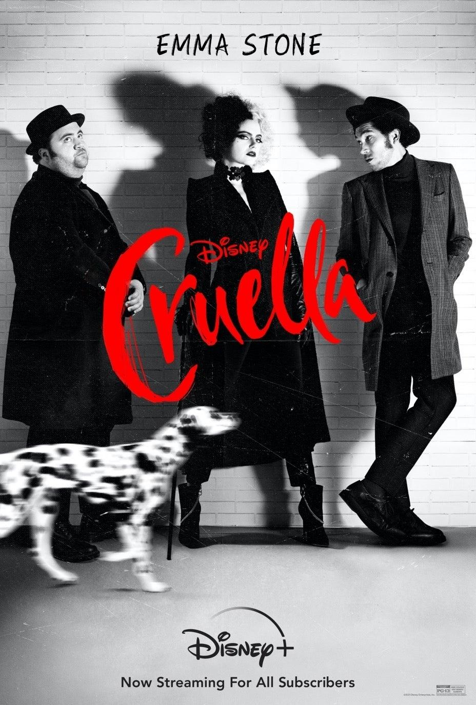Cruella digital key art Disney+ streaming date