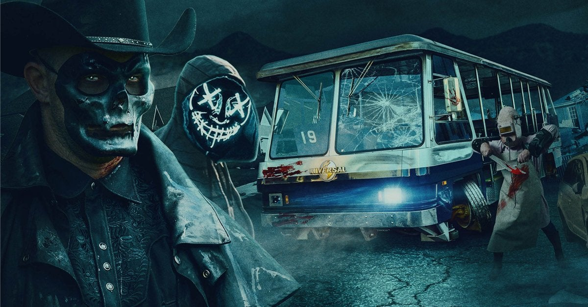 halloween horror nights hollywood the purge terror tram