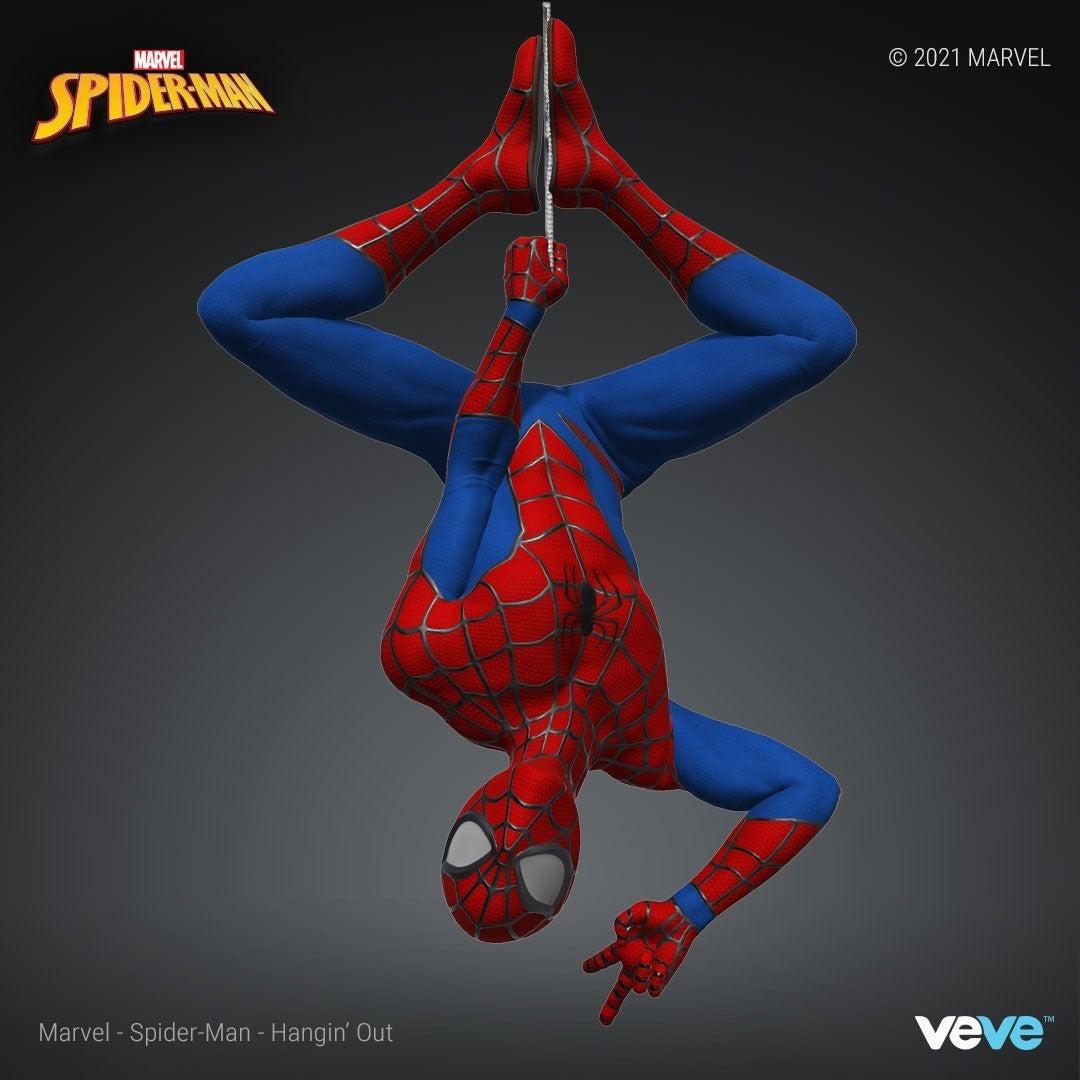 Marvel Official Spider Man NFT Hanging Pose