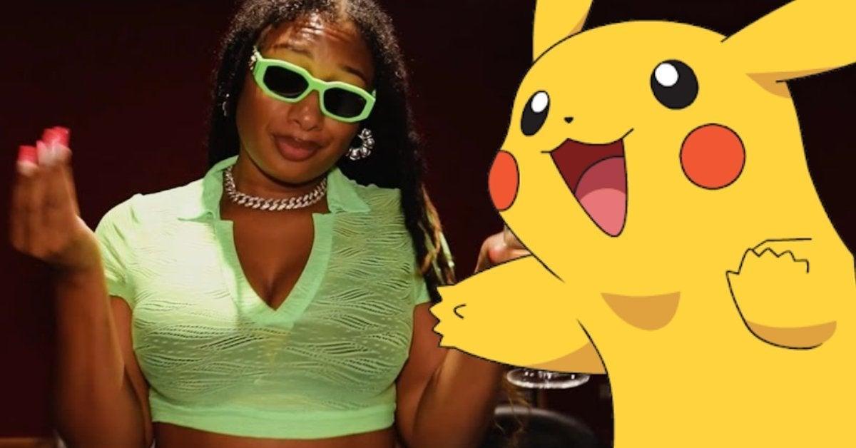 Megan Thee Stallion Pokemon Tuned in Freestyle Pikachu Charizard
