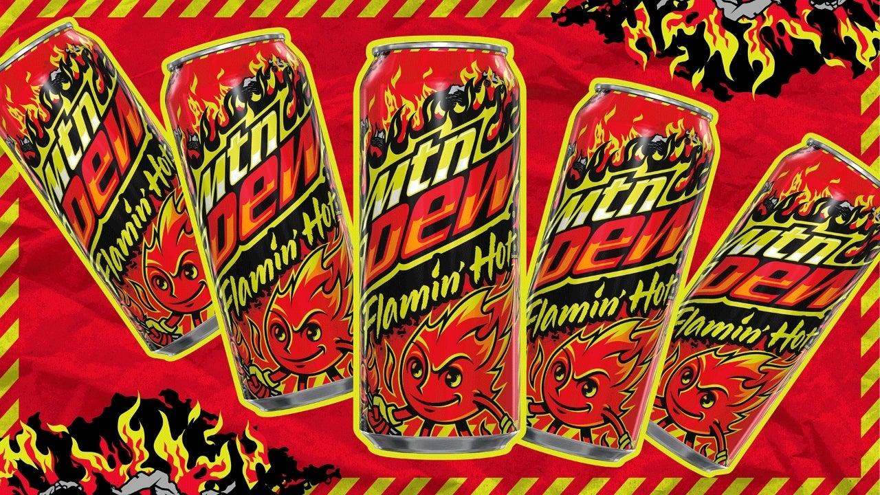 mountain dew flamin hot soda
