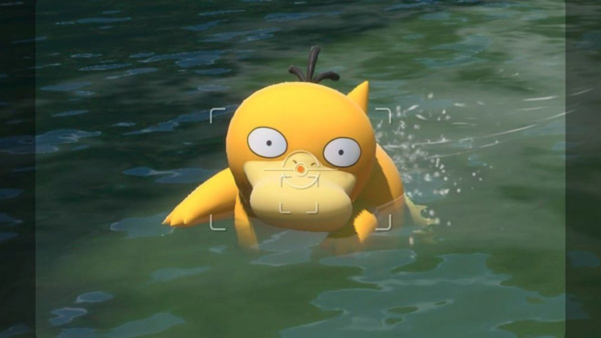New Pokemon Snap Psyduck wading
