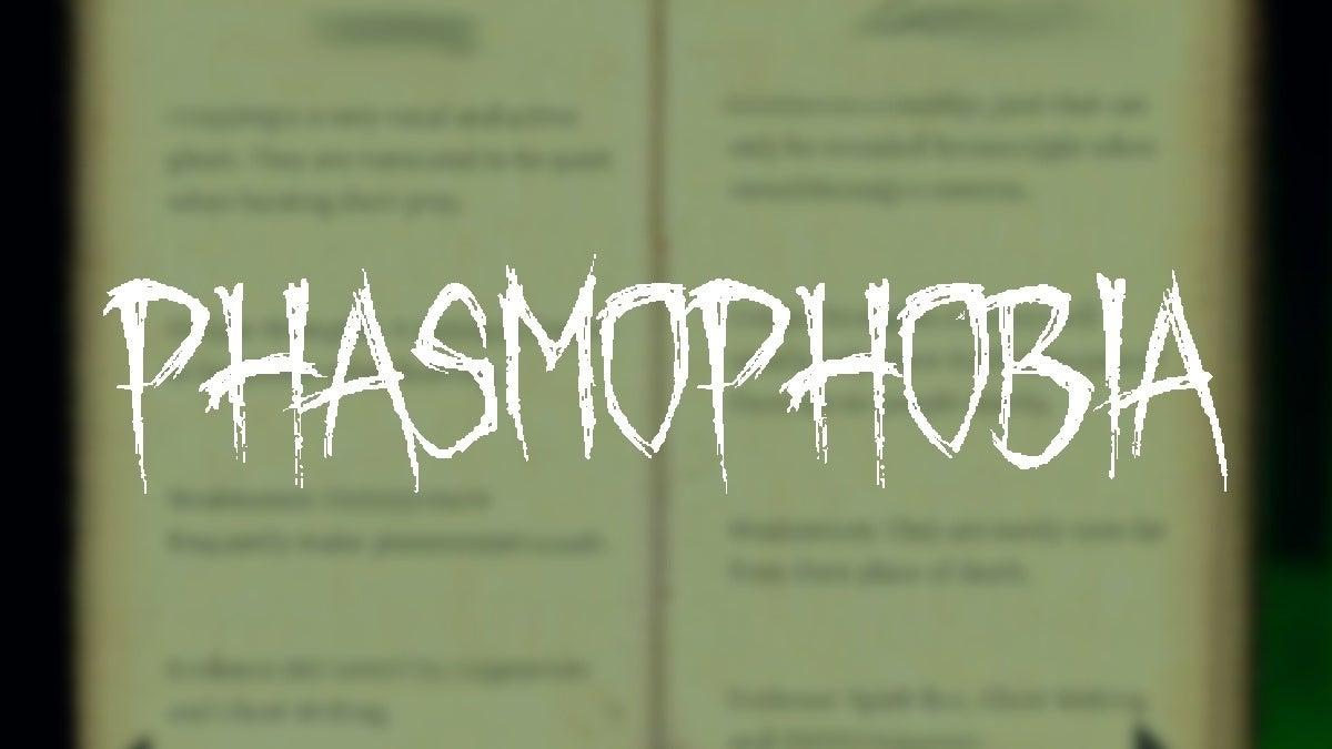Phasmophobia Ghosts