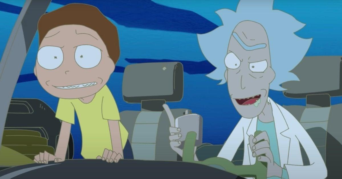 Rick et Morty Anime Adult Swim Summet Meets God Rick Meets Evil