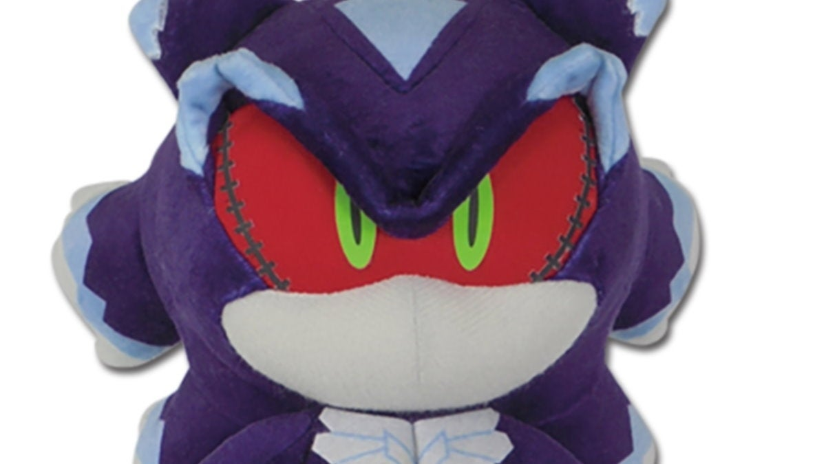 sonic the hedgehog mephiles plush new cropped hed