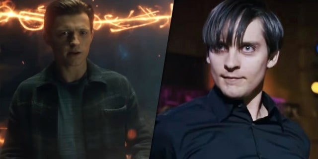 spider man tobey maguire spotted trailer