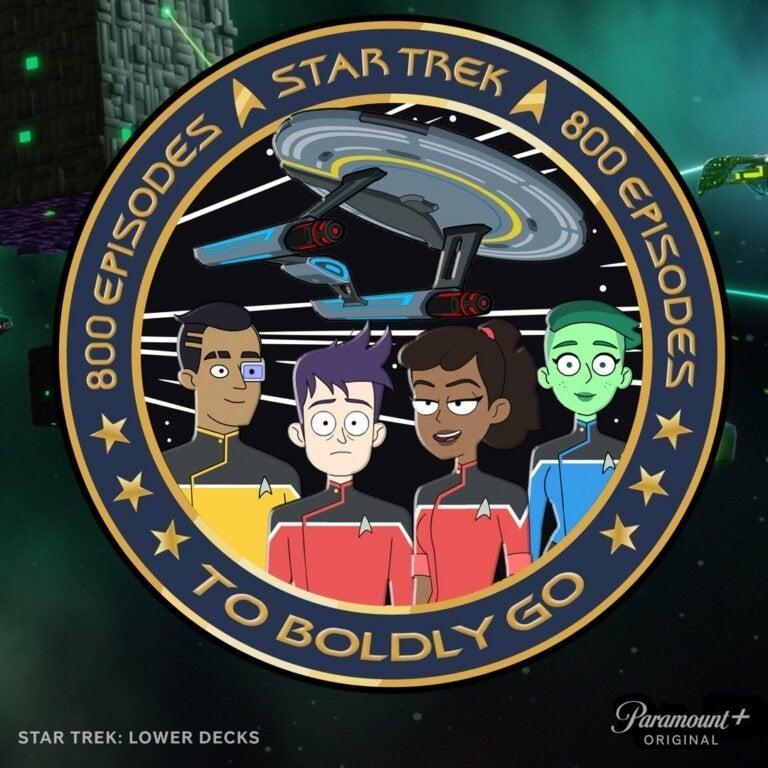 Star trek 800 episodes plate