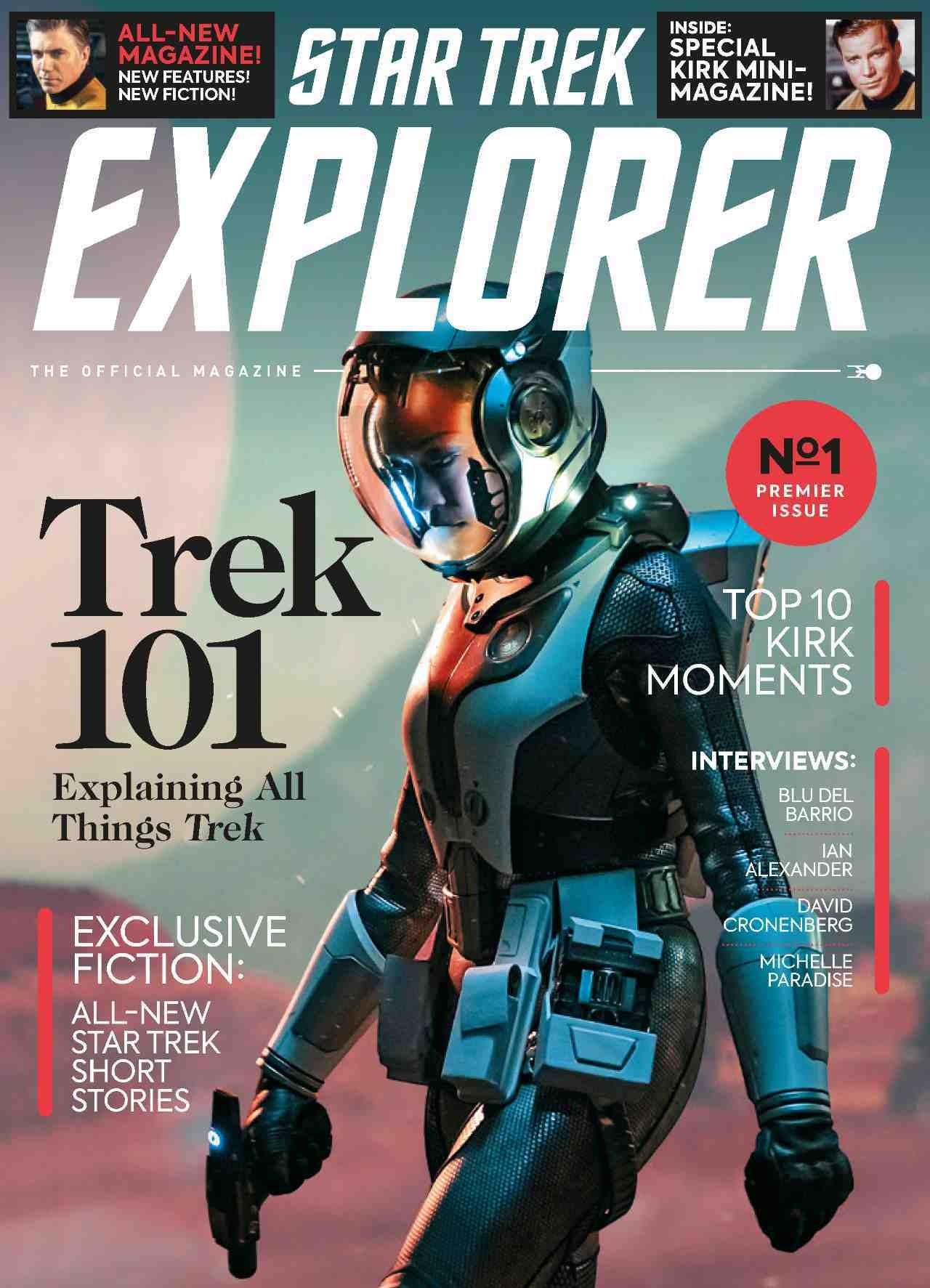 Commander Michael Burnham (Sonequa Martin-Green) from Star Trek: Discovery, on the cover of Star Trek Explorer magazine