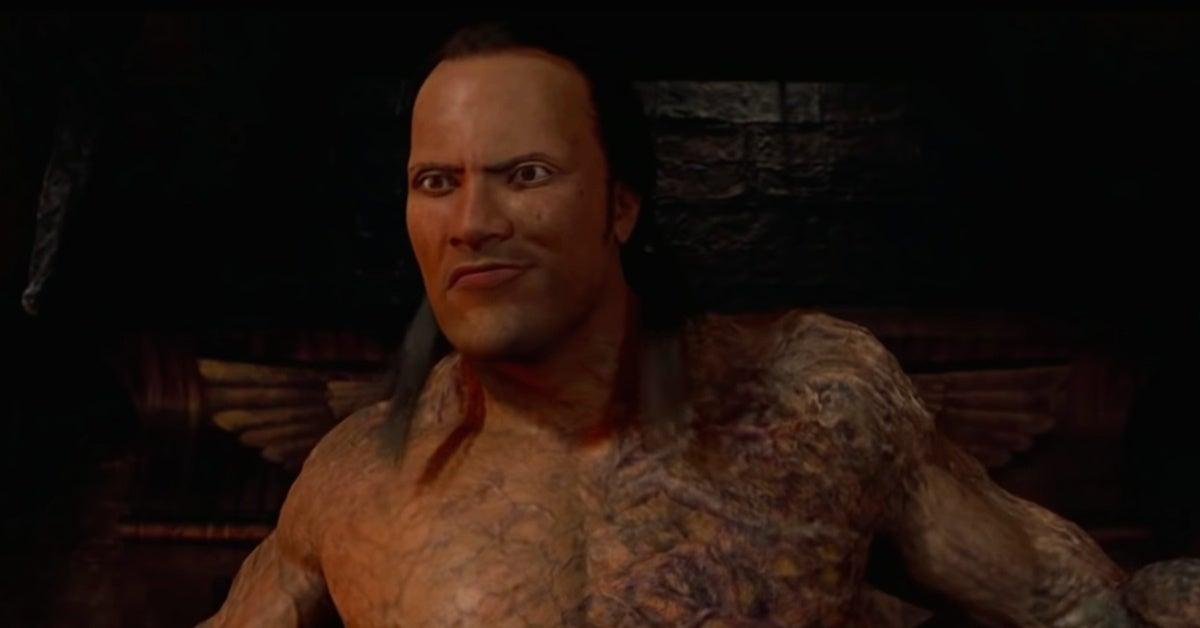 the mummy returns bad CGI shot The Rock Dwayne Johnson