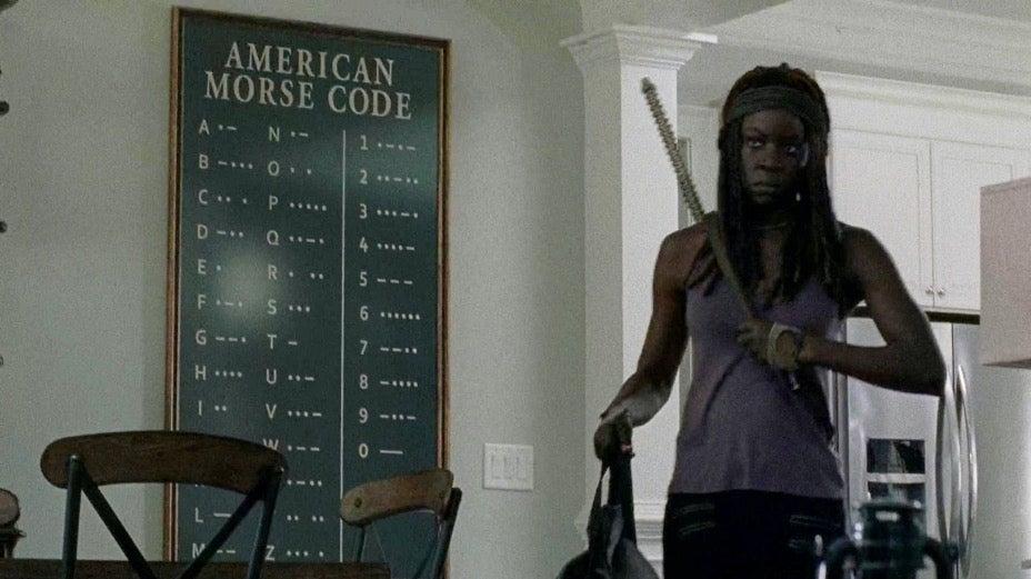 The Walking Dead morse code