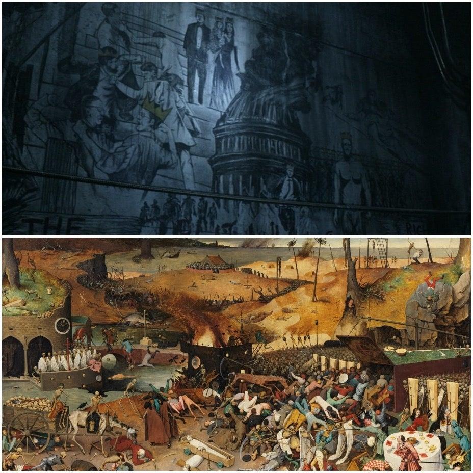 The Walking Dead mural Acheron Part 2