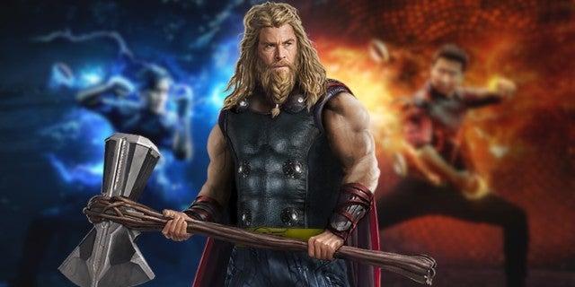 Thor Chris Hemsworth Welcomes Shang Chi Simu Liu to MCU