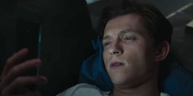 Tom Holland Reacts Spider Man No Way Home Trailer